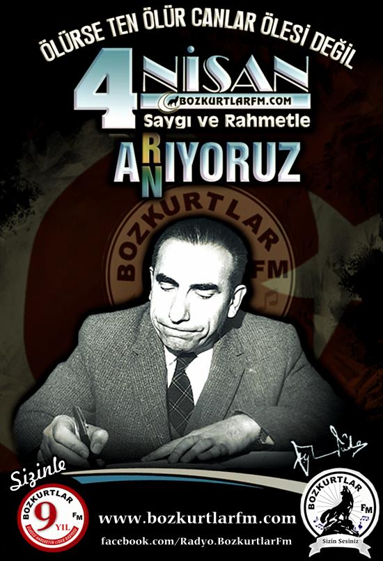 Başbuğumuz Alparslan Türkeş'i Vefatının 21. Yılında Rahmet ve Minnetle Anıyoruz.
