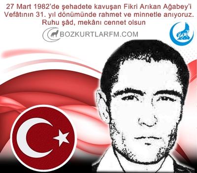 Fikri Arıkan Ağabey'i Vefâtının 31. yıl dönümünde rahmet ve minnetle anıyoruz.