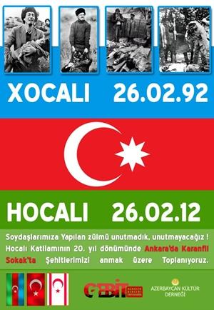 Hocalı Katliamı'nın 20. Yıldönümünde Ankara'da Karanfil Sokak'ta