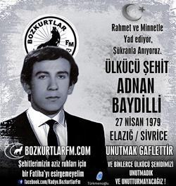 Adnan Baydilli – Ülkücü Şehit – 27 Nisan 1979