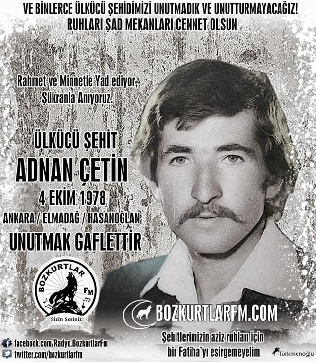 Adnan Çetin – Ülkücü Şehit – 4 Ekim 1978