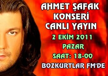 2 Ekim 2011 Pazar Ahmet Şafak Konseri Canlı Yayın