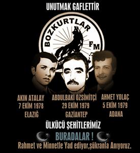 Akın Atalay – Abdulbaki Özsimitçi – Ahmet Yolaç – Ülkücü Şehitlerimiz