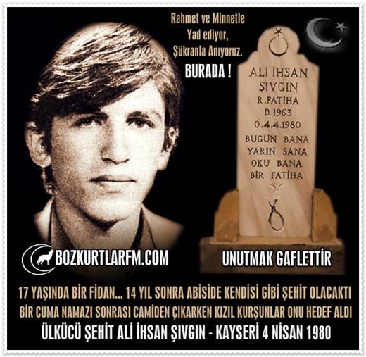 Ali İhsan Şıvgın – Ülkücü Şehit 4 Nisan 1980