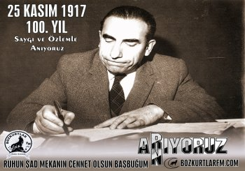 Başbuğ Alparslan Türkeş'i 100.Doğum Yılında Saygı,Minnet ve Rahmetle Anıyoruz.