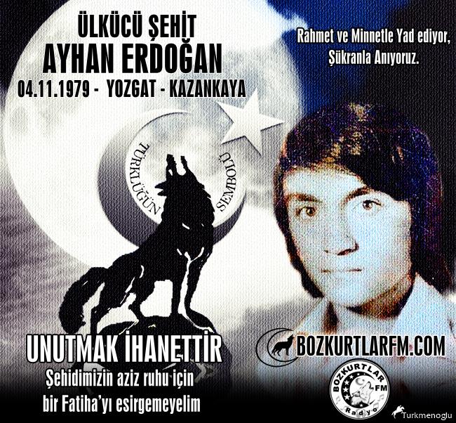 Ayhan ERDOĞAN – Ülkücü Şehit – 4 Kasım 1979
