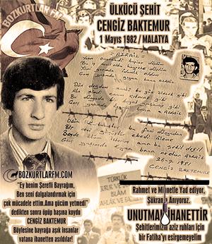 Cengiz Baktemur – Ülkücü Şehit – 1 Mayıs 1982