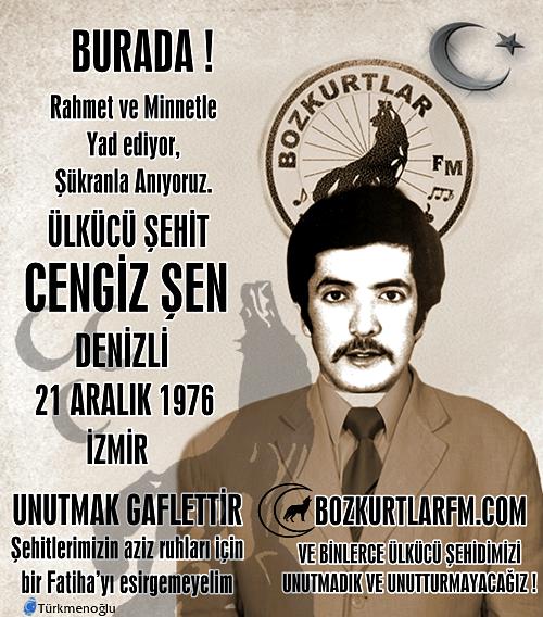 Cengiz Şen – Ülkücü Şehit – 21 Aralık 1977