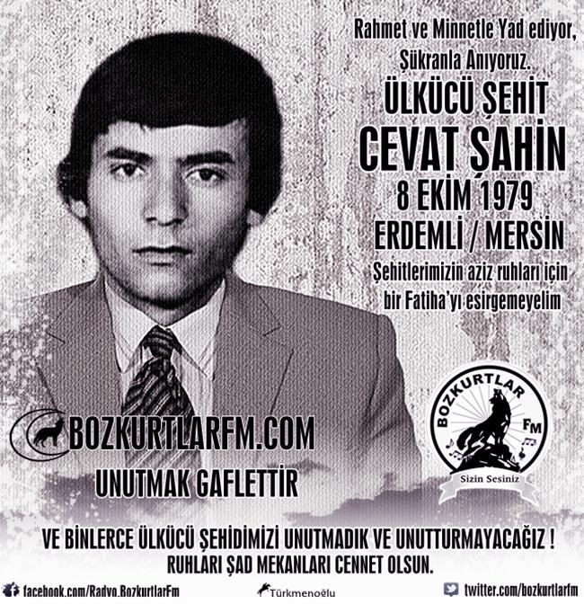 Cevat Şahin – Ülkücü Şehit – 8 Ekim 1979