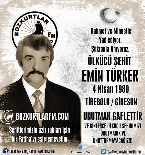 Emin Türker – Ülkücü Şehit – 4 Nisan 1980
