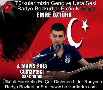 Türkü Gecesi – Emre Öztürk Canlı Yayın 4 Mayıs 2013