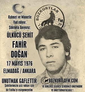 Fahir Doğan – Ülkücü Şehit – 17 Mayıs 1976