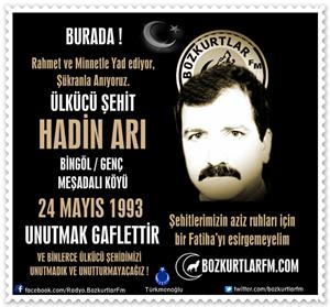 HADİN ARI – Ülkücü Şehit 24 Mayıs 1993