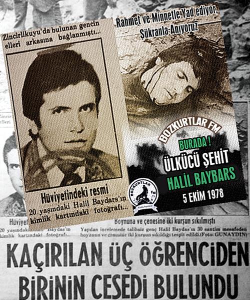 Halil Baybars – Ülkücü Şehit – 5 Ekim 1978