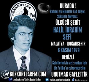 Halil İbrahim Sefi – Ülkücü Şehit – 6 Kasım 1979