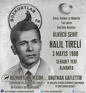 Halil Tireli – Ülkücü Şehit – 3 Mayıs 1980