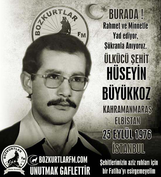 Hüseyin Büyükkoz – Ülkücü Şehit – 25 Eylül 1976