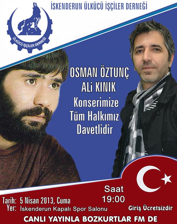 CANLI YAYIN – Osman Öztunç- Ali Kınık Konseri – İskenderun
