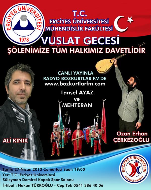 CANLI YAYIN – Kayseri Erciyes Üniversitesi Vuslat Gecesi