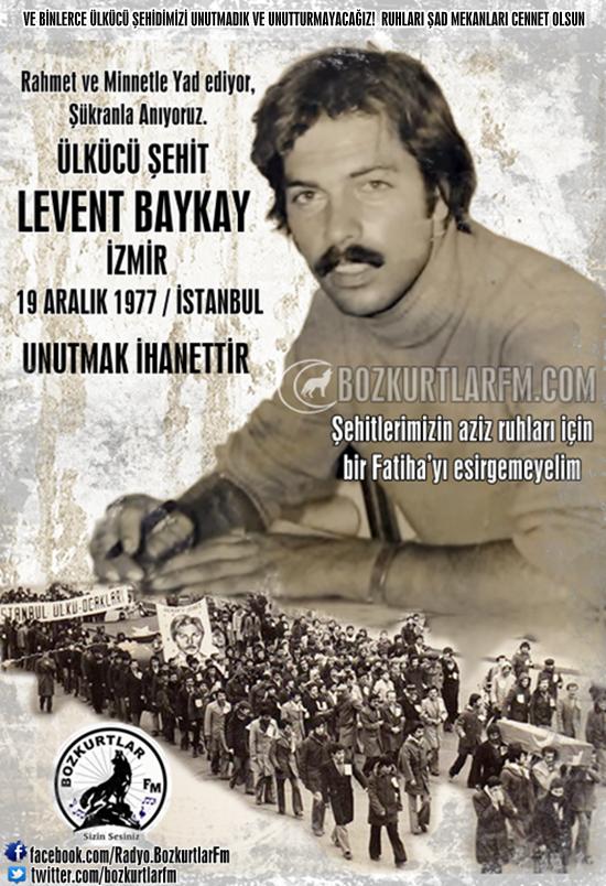 Levent Baykay – Ülkücü Şehit – 19 Aralık 1977