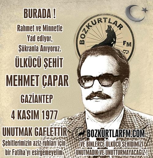 Mehmet Çapar – Ülkücü Şehit – 4 Kasım 1977