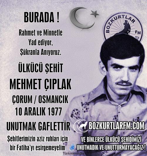 Mehmet Çıplak – Ülkücü Şehit – 10 Aralık 1977