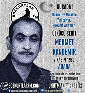 Mehmet Kandemir – Ülkücü Şehit – 7 Kasım 1980