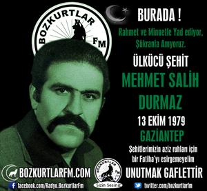 Mehmet Salih Durmaz – Ülkücü Şehit – 13 Ekim 1979