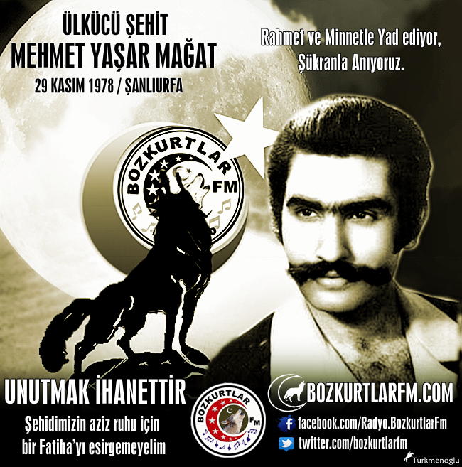 Mehmet Yaşar MAĞAT – Ülkücü Şehit – Şanlıurfa