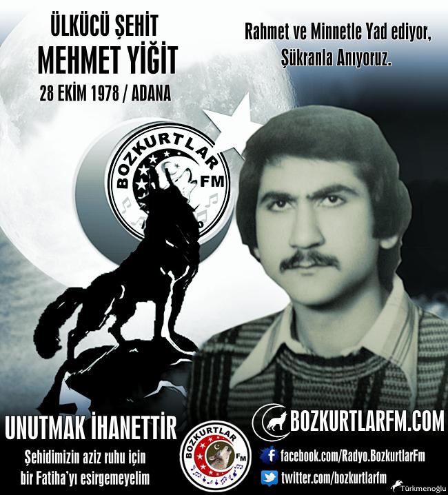 Mehmet YİĞİT – Ülkücü Şehit – Adana