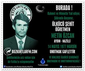 Metin Özcan – Ülkücü Şehit Öğretmen 14 Mayıs 1977
