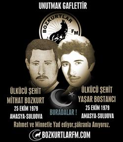 Mithat Bozkurt ve Yaşar Coşkun – Ülkücü Şehitler -25 Ekim 1979
