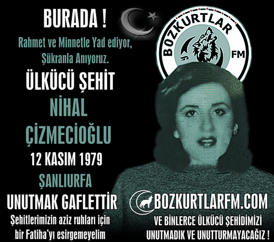 Nihal Çizmecioğlu – Ülkücü Şehit – 12 Kasım 1979