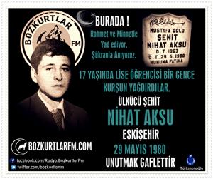 Nihat Aksu – Ülkücü Şehit 29 Mayıs 1980