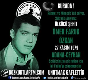 Ömer Faruk Özkan – Ülkücü Şehit – 27 Kasım 1979