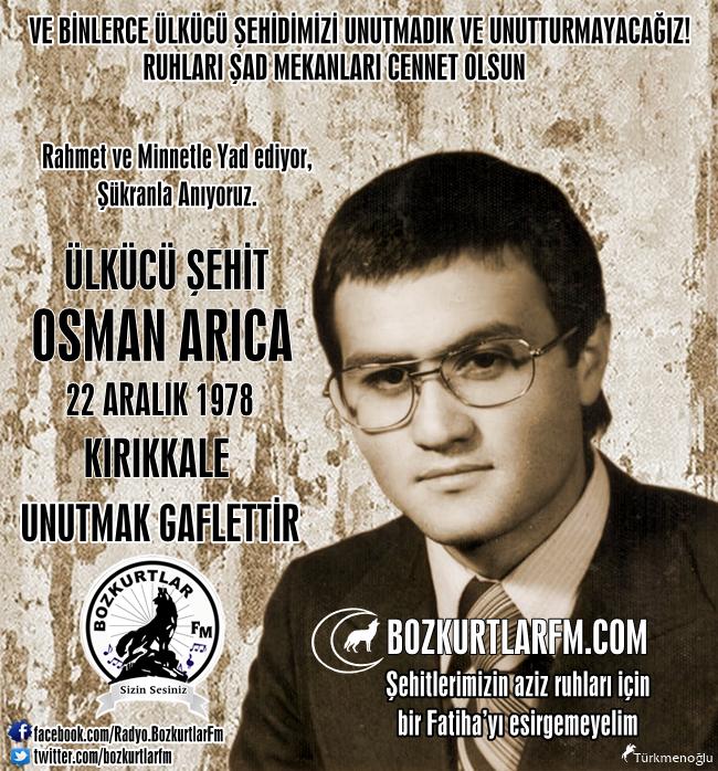 Osman Arıca – Ülkücü Şehit – 22 Aralık 1978