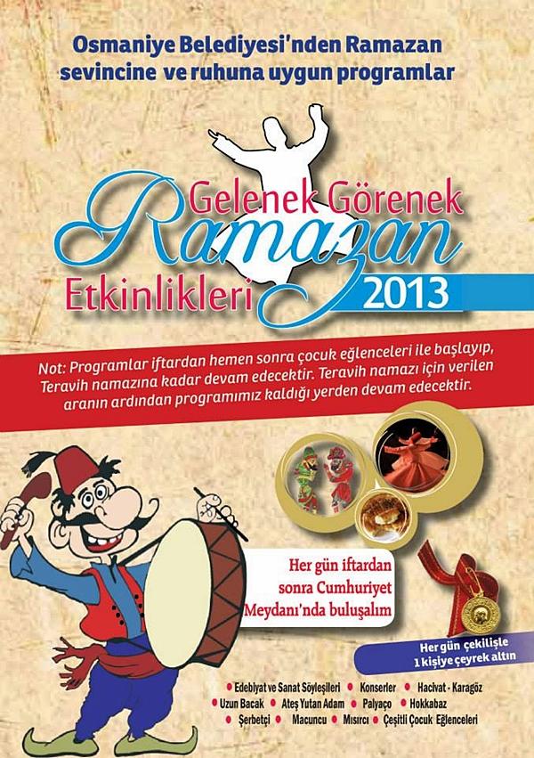 Osmaniye Belediyesi Ramazan Etkinlikleri Başladı