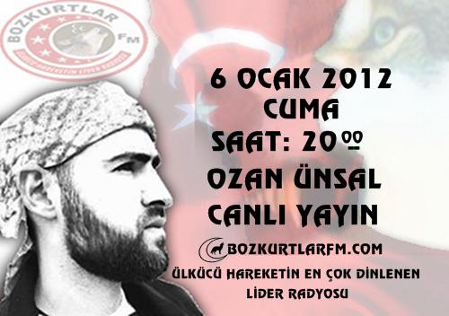 Ozan Ünsal-Canlı Yayın-6 Ocak 2012 Cuma