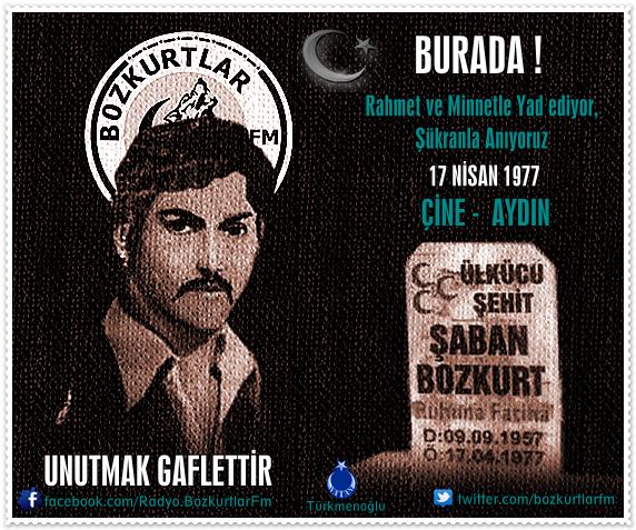 Şaban Bozkurt – Ülkücü Şehit 17 Nisan 1977