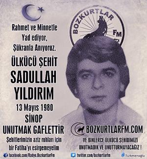 Sadullah Yıldırım – Ülkücü Şehit – 13 Mayıs 1980