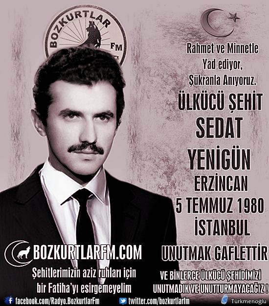 Sedat Yenigün – Ülkücü Şehit – 5 Temmuz 1980