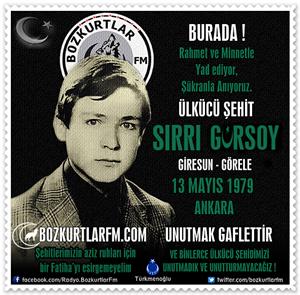 Sırrı Gürsoy – Ülkücü Şehit 13 Mayıs 1979