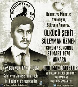 Süleyman Özmen – Ülkücü Şehit – 21 Mart 1970