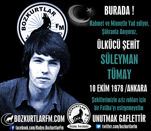 Süleyman Tümay – Ülkücü Şehit – 10 Ekim 1978