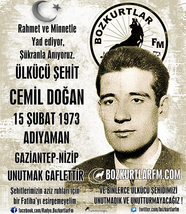 Cemil Doğan – Ülkücü Şehit – 15 Şubat 1973