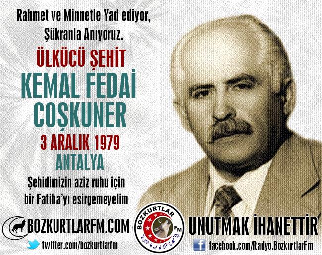Kemal Fedai COŞKUNER – Ülkücü Şehit – 3 Aralık 1979