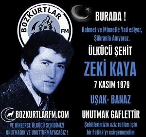 Zeki Kaya – Ülkücü Şehit – 7 Kasım 1979